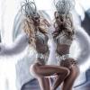 Twins go-go dancers